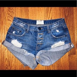 ONE X ONETEASPOON Blue jean shorts, size 27